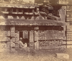 Close view of right half of south façade of the mandapa of the Parashurameshvara Temple, Bhubaneshwar